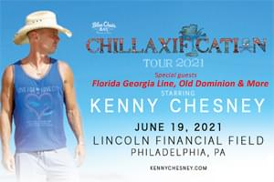 "[RESCHEDULED] Kenny Chesney's ""Chillaxification Tour"" at  Lincoln Financial Field June 19, 2021"