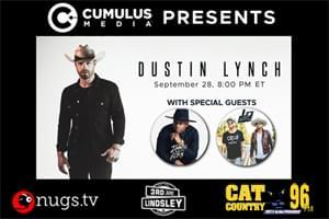 Dustin Lynch Live from Nashville September 28th