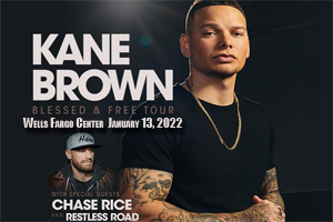 Cat Country 96 & 107.1 Welcomes KANE BROWN to the Wells Fargo Center