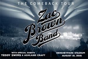 Cat Country 96 & 107.1 Welcomes Zac Brown Band to Hersheypark Stadium