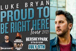 Luke Bryan at Hersheypark Stadium July 9, 2021
