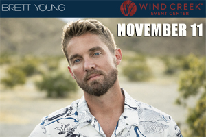 Cat Country 96 & 107.1 Welcomes Brett Young to the Wind Creek Event Center