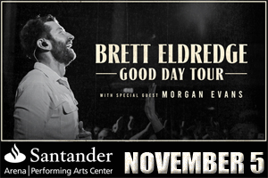 Brett Eldredge & Morgan Evans at Santander Arena November 5, 2021