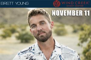Brett Young at Wind Creek Center November 11, 2021