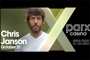 Win Tickets to see Chris Janson at Parx Casino