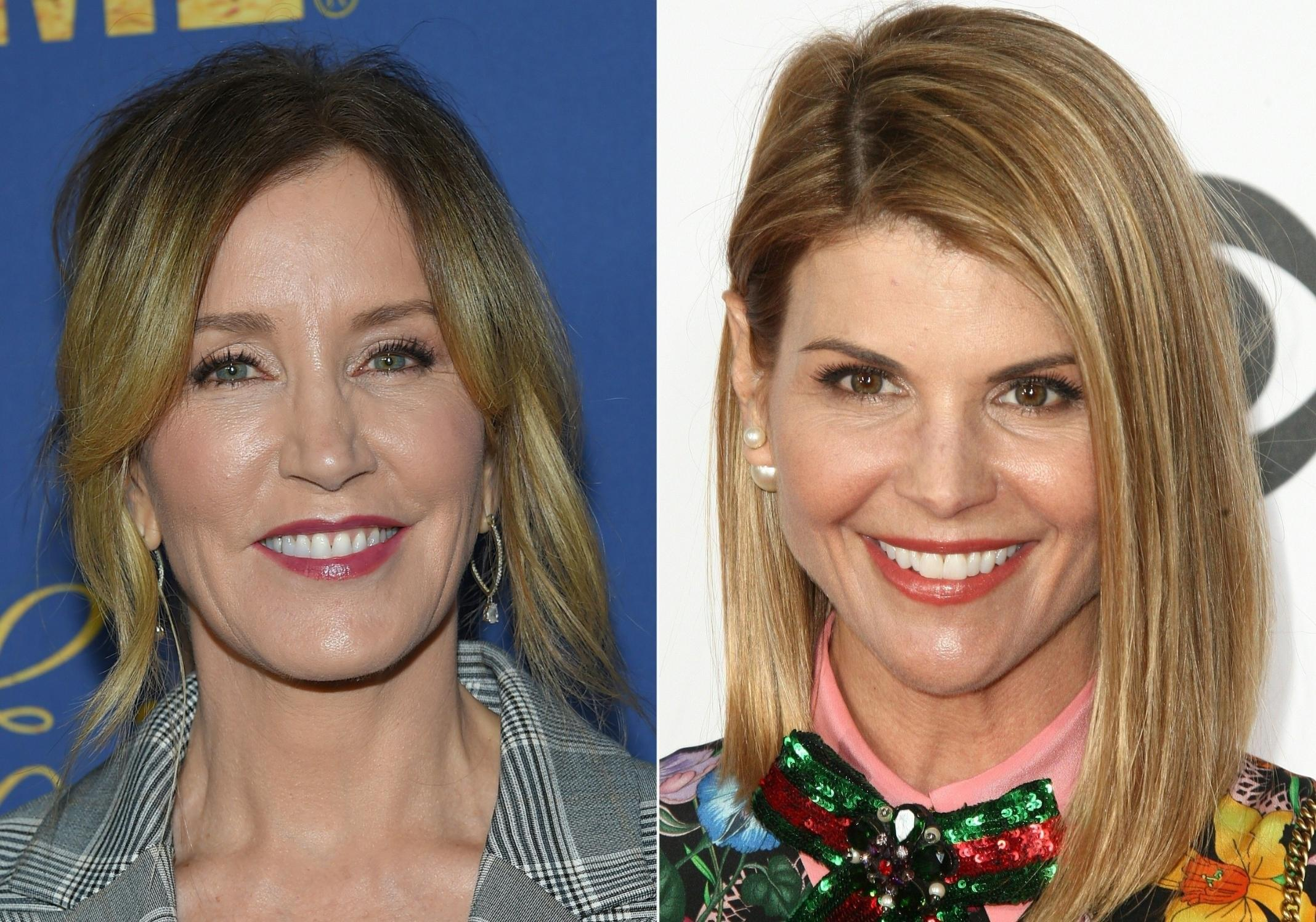 Lori Loughlin and Felicity Huffman appear in court to face college admissions charges