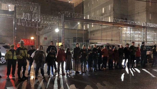 Wyatt jail opponents stage peaceful protest