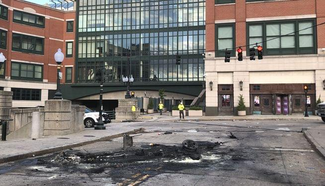 Man charged in Providence cruiser burning pleads guilty