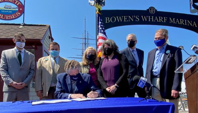 Rhode Island governor signs climate change bill into law