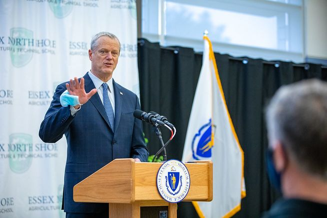 Gov. Baker said he felt aches, chills after 2nd vaccine shot