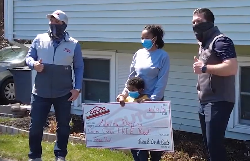 Couto Construction Surprises Local Veteran with Free Roof