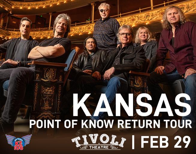 KZ106 Presents: Kansas, February 29th