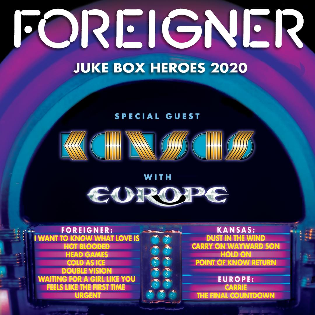 Foreigner/Kansas/Europe, 9/8 in Nashville