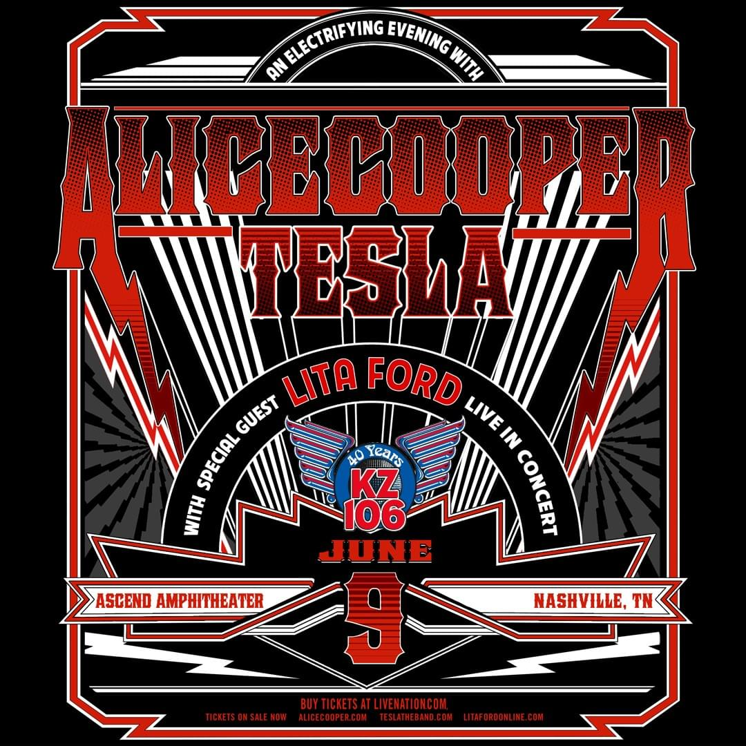 Alice Cooper/Tesla/Lita Ford, June 9th in Nashville
