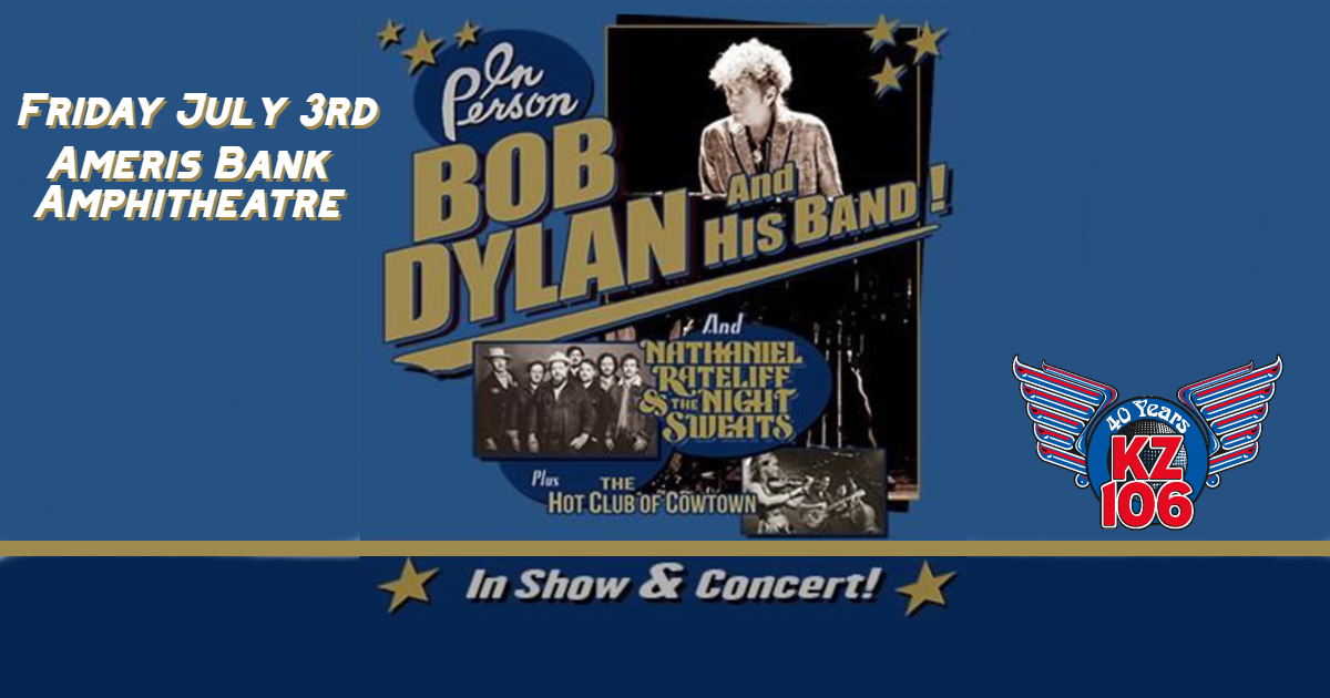 Bob Dylan, July 3rd Ameris Amphitheater