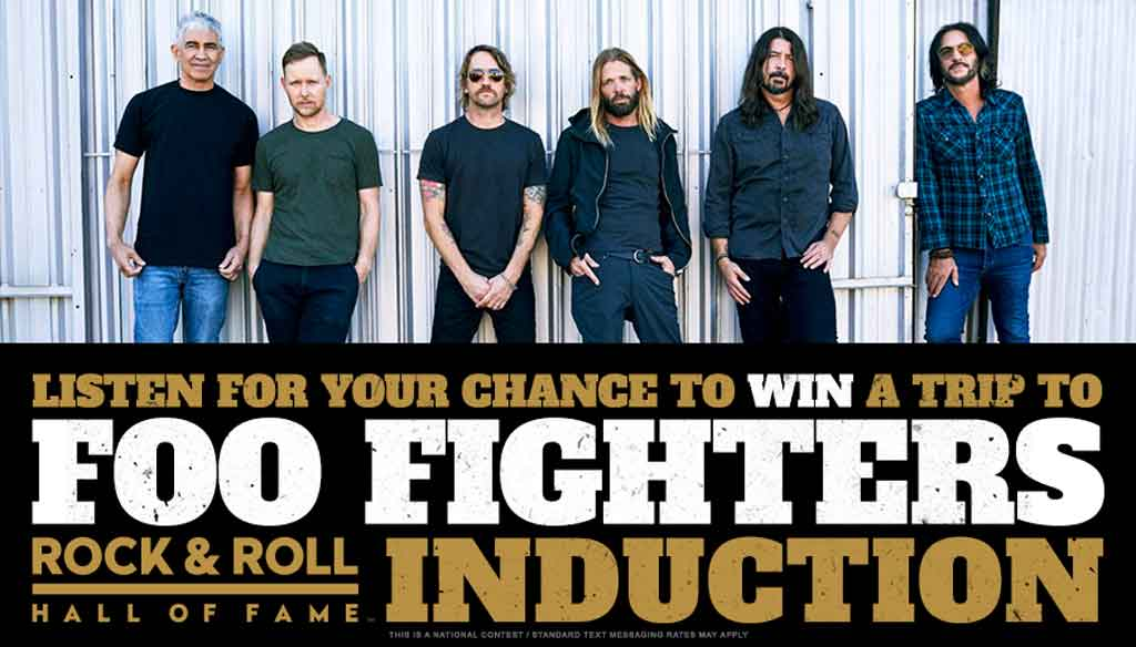 Win a Trip to the Foo Fighters Rock and Roll Hall of Fame Induction