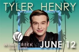Hollywood Medium Tyler Henry at Wind Creek Event Center June 12th