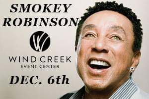 Smokey Robinson at Wind Creek Event Center Dec. 6th