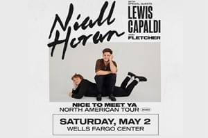 100.7 LEV Welcomes Niall Horan to the Wells Fargo Center on May 2nd