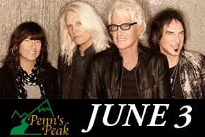 REO Speedwagon at Penns Peak June 3rd