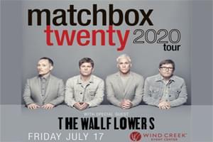 100.7 LEV Welcomes Matchbox Twenty to Wind Creek Event Center July 17th!