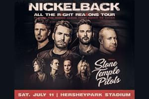 100.7 LEV Welcomes Nickelback to Hersheypark Stadium