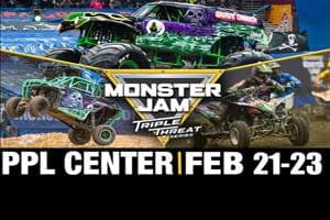 Monster Jam Triple Threat Series at the PPL Center February 21-23