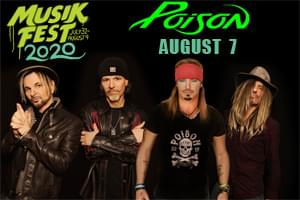 100.7 LEV Presents Poison at Musikfest