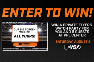 Win a Private Flyers Watch Party at the PPL Center