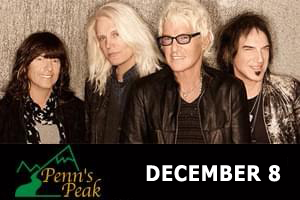 RESCHEDULED: REO Speedwagon at Penns Peak December 8, 2021