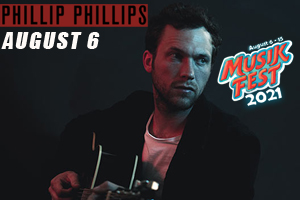 Phillip Phillips at Musikfest on August 6, 2021