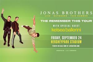 Jonas Brothers at Hersheypark Stadium on September 24, 2021