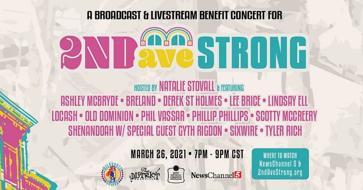 Music City's 2nd Ave Strong Benefit Concert Replay