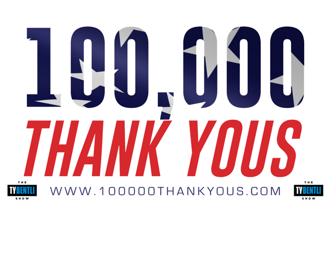 3rd Annual 100,000 Thank Yous