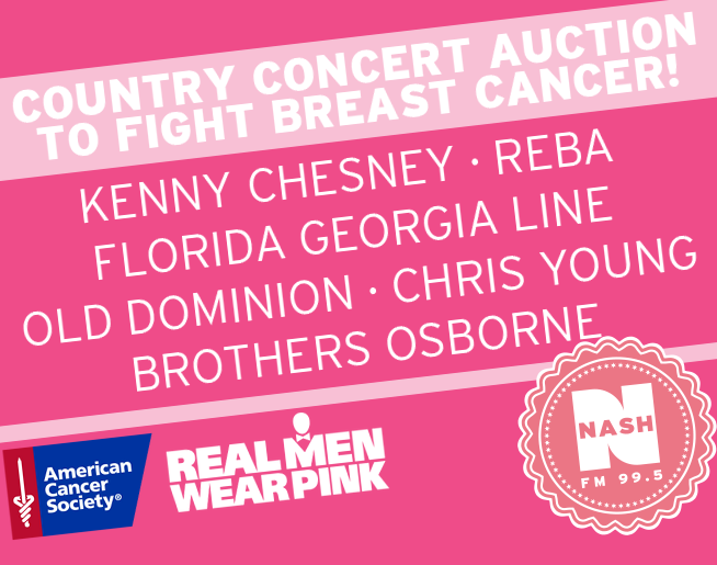 Country Concert Auction To Fight Breast Cancer!