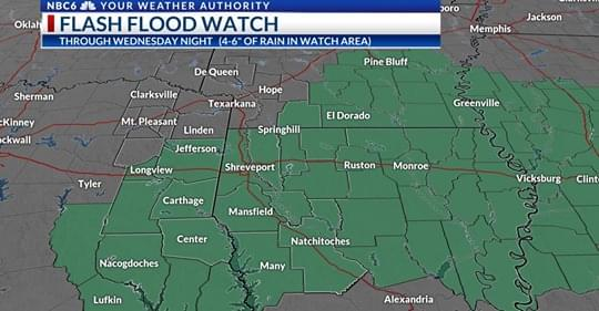 Flash Flooding Is Possible This Week!