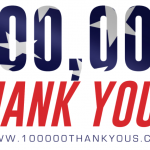 "Thank You for Making Our 3rd Annual ""100,000 Thank Yous"" a Success!"