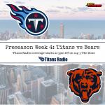 Titans vs Bears: Game Day Info
