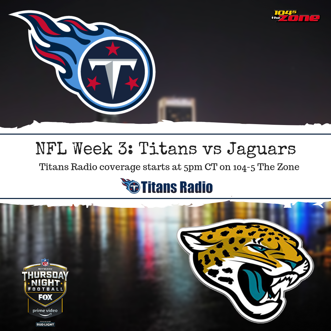 Titans Vs Jaguars Gameday Info Wgfx Fm