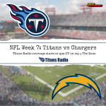 Titans vs Chargers: Game Day Info