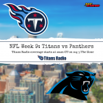 Titans vs Panthers Week 9 Primer