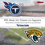 Titans vs Jaguars: Week 12 Primer