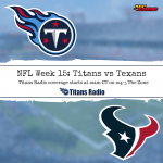 Titans vs Texans: Week 15 Primer