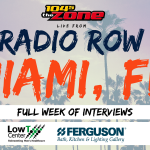 104-5 The Zone is going to Radio Row in Miami