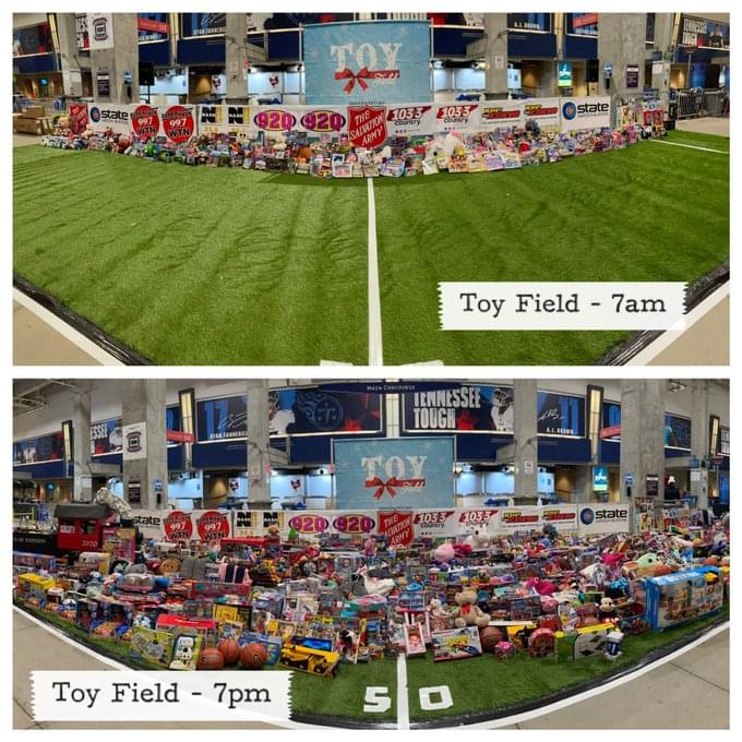 Cumulus Media Nashville Collects Thousands at Toy Field