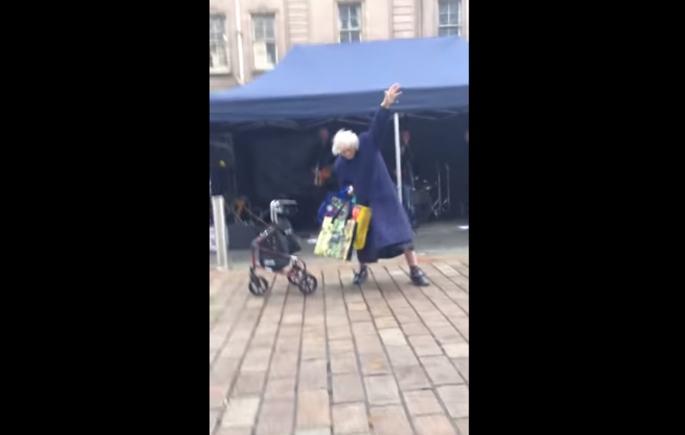 Granny Rocks Out To AC/DC Cover Band (Video)