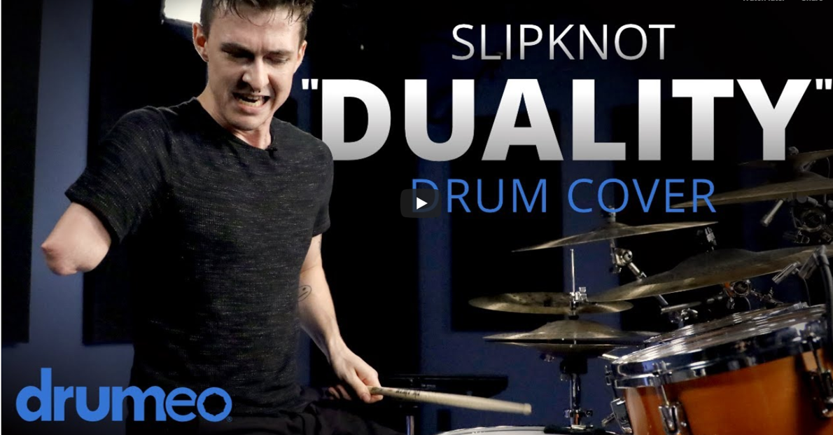 "Drummer With One Arm Crushes Slipknot's ""Duality"" (Video)"