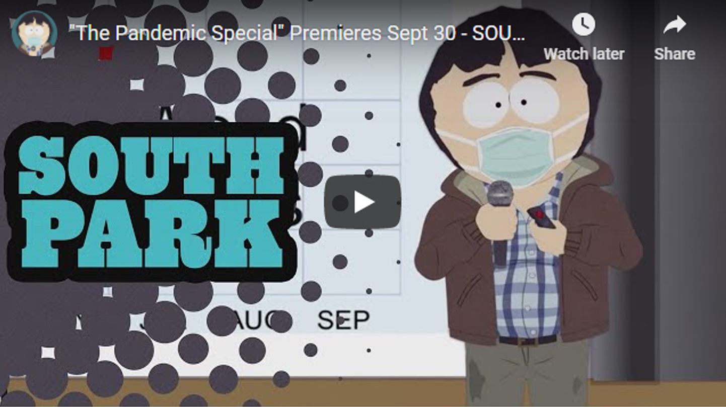 """South Park"" Is Doing a One-Hour Special on the Coronavirus"