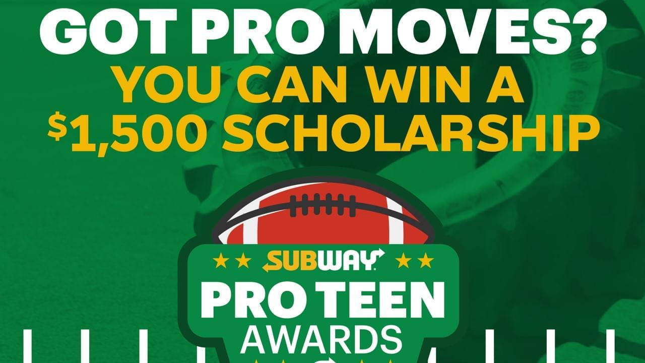 subway pro teen awards