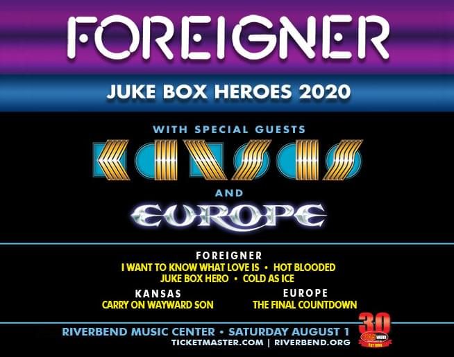 103.5 WGRR 30th Anniversary Concert with Foreigner